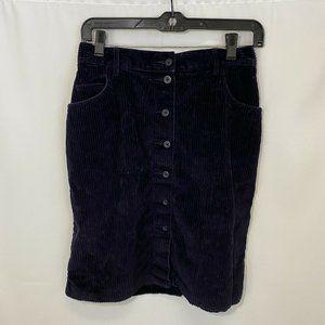 Vintage Eddie Bauer Blue Corduroy Button skirt